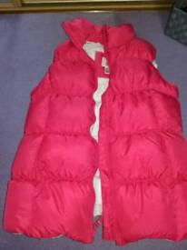 Girls Pink Body Warmer 11-12 years