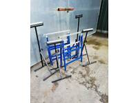 ROLLER STANDS HEAVY-DUTY AND BUILDERS TRESTLES.