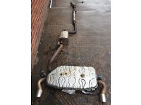 FORD FOCUS ST 225 FULL STANDARD EXHAUST SYSTEM - SCORPION DECAT - INCLUDES DOWNPIPE
