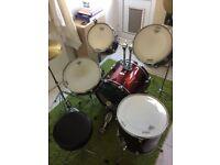 Mapex Tornado 22'' Rock Drum Kit, Burgundy