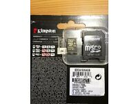 GENUINE KINGSTON 64GB MEMORY CARD SDCA10 Class 10 UHS-I microSDHC for ALL MOBILE ANDROID, IPHONE