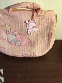 baby annabel dolls changing bag with accessories
