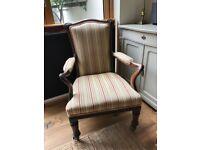 Victorian open armchair newly reupholstered