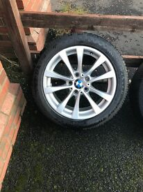 4 winter wheels and the tyres for a BMW 3 series