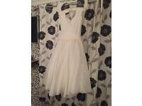 Vintage style wedding dress 3/4 length size 12