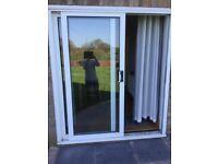 Patio door, sliding white