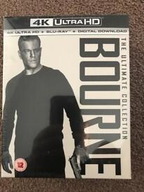 Bourne Ultimate Collection 4K Ultra HD Blu Ray SEALED