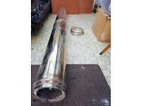 Stainless steel twin wall 5inch flue