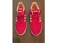 Ladies pink Adidas Trainers