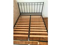 Iron bed Feather & Black King size 5' with mattress