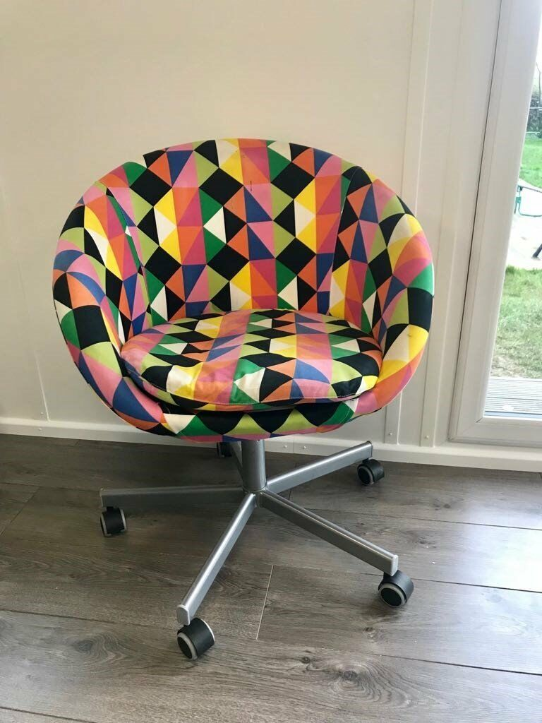 Excellent Condition Striking Multicolor Ikea Skruvsta Swivel Chair For Sale In South East London London Gumtree