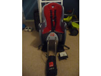 Red & Grey Hamax Kiss Child Bike Seat Carrier