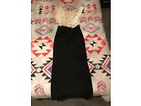 Woman's cream and black dress size 6-8