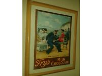 vintage frys advertising poster framed