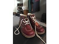 Kickers high top dark red