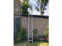 Aluminium Extension Ladder 14ft closed