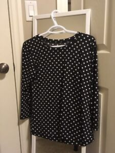 (new) white and black polka dots blouse