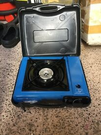 Portable camping stove - single ring