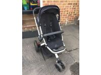 Quinny Buzz 3 Wheeler. Includes Quinny from birth inlay/footmuff/ rain cover & more.