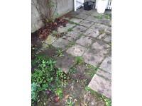 Concrete patio slabs. Bristol. Collection.