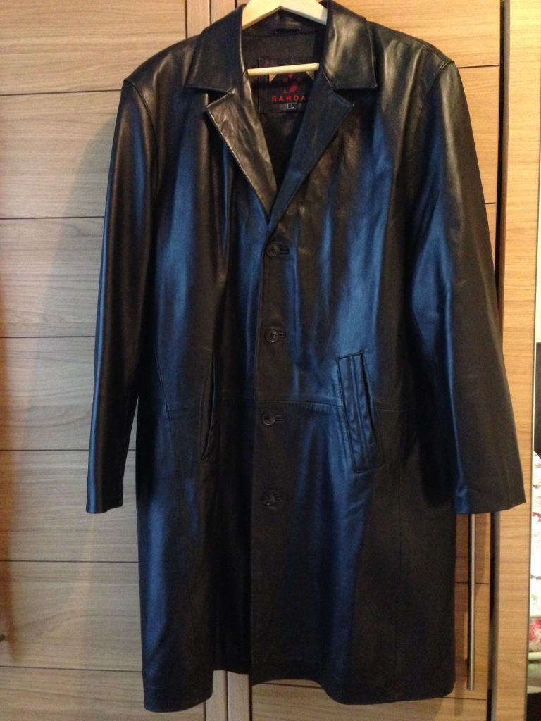 Men's leather coat
