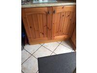 Pine kitchen cupboard doors plus 2 units.