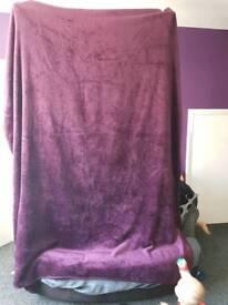 Large purple throw