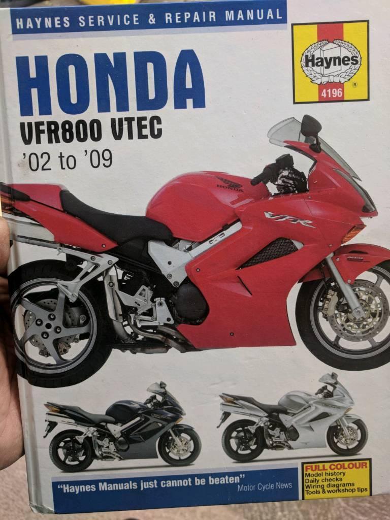 Honda Vfr 800 Vtec Haynes Manual In Anlaby East Yorkshire Gumtree Wiring Diagram