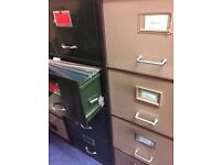 Two large 4 drawer cabinets in good condition.