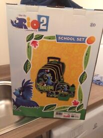 Brand New and Boxed Tweety (Pink) and Rio (Blue) School Bag Set