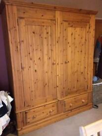Large solid wood wardrobe