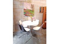 Italian Dining Table + 4 Chairs by Calligaris