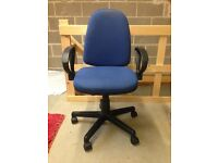 OFFICE CHAIR BLUE FABRIC