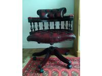 Genuine Chesterfield Captians Swivel Chair