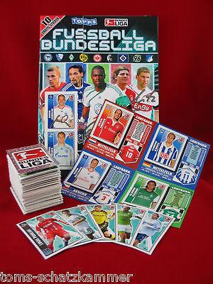 Topps Bundesliga 2009/2010 Satz komplett + Update + Album = alle Sticker...