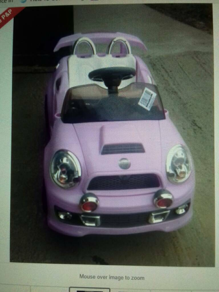 GIRLS ELECTRIC SPORTS 6V RIDE ON CAR PINK BRAND NEW