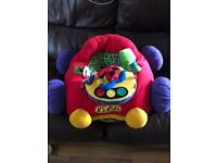Cushioned sit me up baby car seat