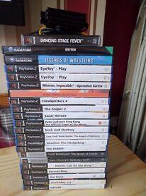 Joblot Playstation 1 play station 2 Nintendo Gamecube games Eyetoy Eye