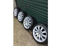 17inch Bmw Alloy run flat tyres 5x120