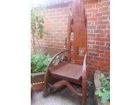 Unusual wooden garden chair