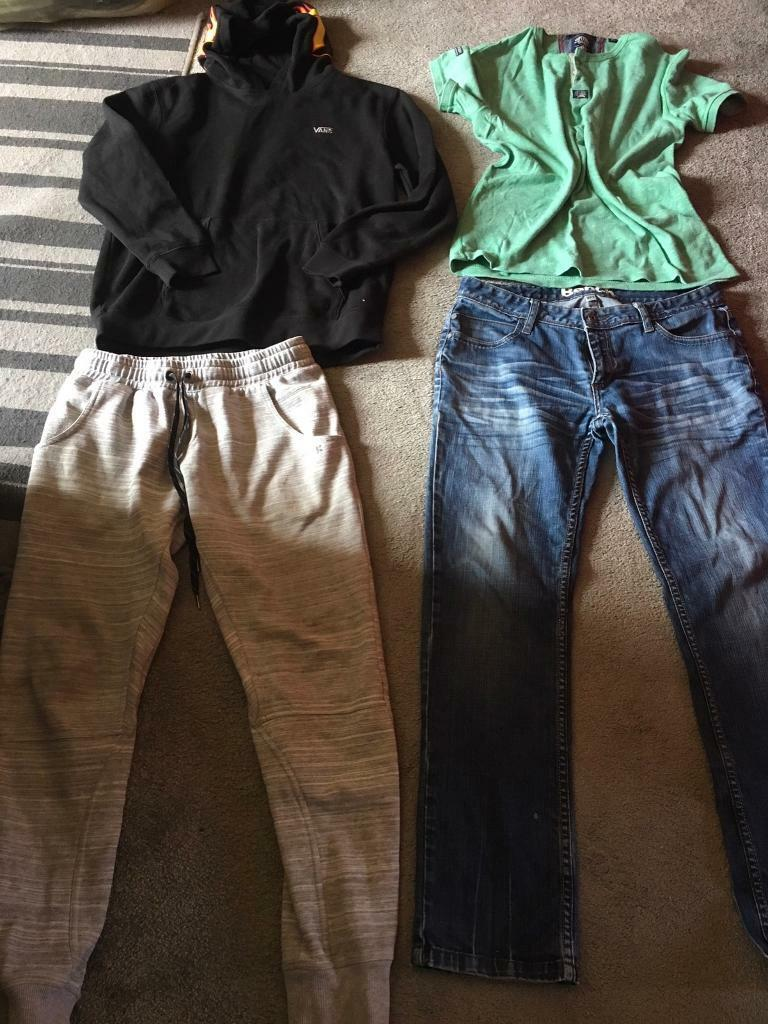 3d11691c89c655 Bundle men s clothes 4 items mixed trousers bench size 32s M £20 all of them