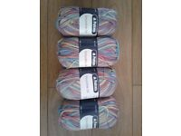 Yarn, patons smoothie DK (£3 each or £2.50 each if buying all 4)