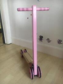Pink folding scooter