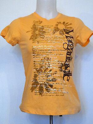 Margaritaville Song Lyrics Cap Sleeve Ladies Light Orange Shirt T Shirt Xs
