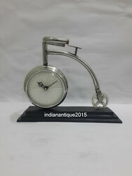 A Morden  Table Clock With  Nickel Finish Table Clock A Home Decor Item