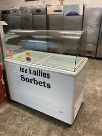 Ice cream display freezer for shop cafe restaurant takeaway restaurant jajshs
