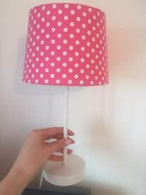 Pink girls bedroom accessories lamp light fitting