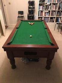 6'2 imperial slate bed pool table