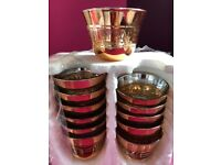 12 x BRAND NEW Small Cups ISLAMIC - Hajj & Umrah - Iftar Time - Gold Colour