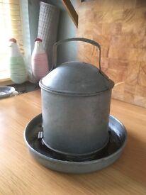 Chicken water feeder Galvanised